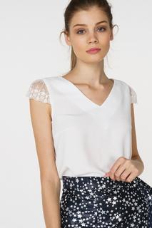 Блуза женская adL 11529625003 белая 42 RU