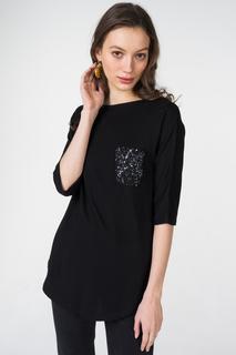 Блуза женская adL 11529674003 черная 40 RU