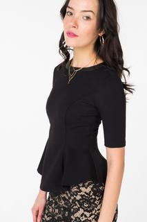 Блуза женская adL 11524396007 черная 40 RU