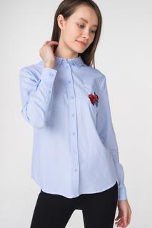 Рубашка женская Incity 1.1.2.18.01.04.00536 голубая 44 RU