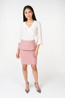 Блуза женская adL 11533836000 белая 42 RU