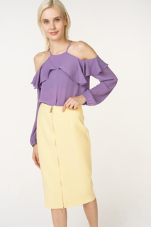Блуза женская adL 11533932000 фиолетовая 46 RU