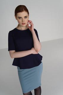 Блуза женская adL 11524396007 синяя 42 RU