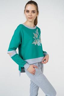 Свитшот женский Grishko AL - 3424 зеленый 40 RU