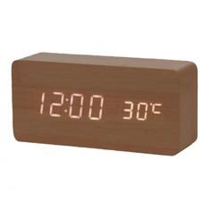 Настольные цифровые часы-будильник VST-862 (коричневые) Lemon Tree
