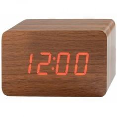 Настольные цифровые часы-будильник VST-863 (коричневые) Lemon Tree