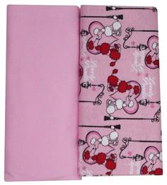Трикотажная пеленка Котмаркот комплект 2 штуки 90х120 см, розовый