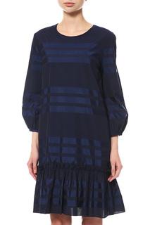 Платье женское Max Mara 62260279002 синее 42 IT