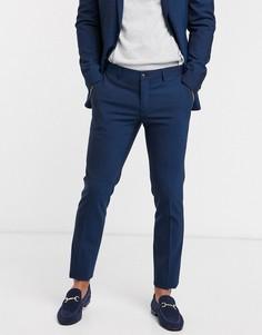 Темно-синие узкие брюки Esprit-Темно-синий