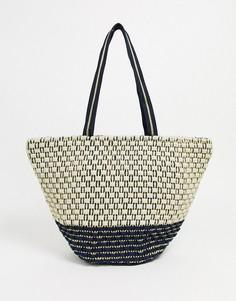 Плетеная пляжная сумка-тоут America & Beyond-Мульти