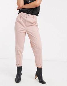 Розовые брюки чиносы ASOS DESIGN-Розовый