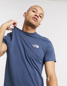 Темно-синяя футболка The North Face Simple Dome-Синий