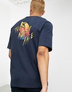 Темно-синяя футболка The North Face-Темно-синий