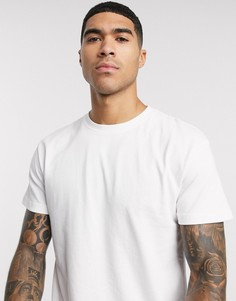 Белая свободная футболка из плотного органического хлопка Jack & Jones Essentials-Белый