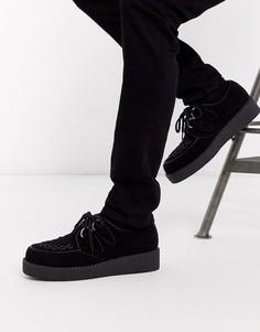 Черные замшевые туфли на шнуровке Truffle Collection-Черный