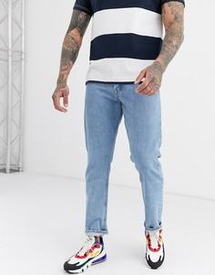 Синие свободные джинсы с выбеленным эффектом Jack & Jones Intelligence-Синий