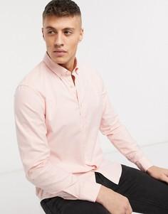 Красная рубашка в вертикальную полоску Esprit-Красный
