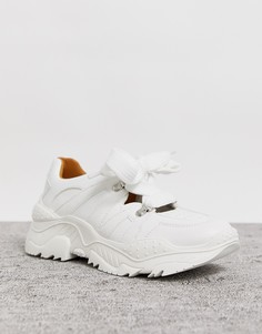Белые кроссовки со шнуровкой Lost Ink-Белый
