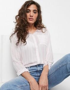 Рубашка в полоску с длинными рукавами Only-Розовый