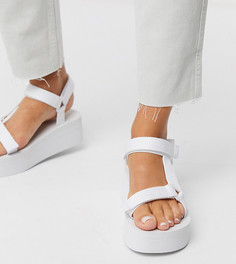 Белые сандалии на платформе для широкой стопы Truffle Collection-Белый