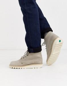 Серые кожаные ботинки Kickers-Серый