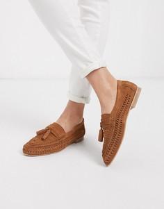 Замшевые туфли на плоской подошве ASOS DESIGN-Светло-коричневый