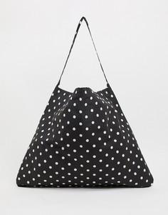 Черная пляжная сумка-тоут в горошек Vero Moda-Мульти
