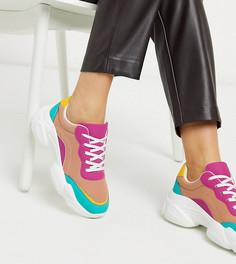 Разноцветные кроссовки для широкой стопы на массивной подошве ASOS DESIGN Destined-Мульти