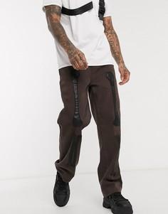 Широкие коричневые джинсы с аппликациями костей из искусственной кожи Jaded London-Коричневый