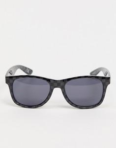 Солнцезащитные очки с отделкой в шахматную клетку Vans Spicoli 4-Черный