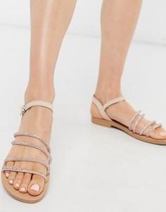 Розовые сандалии с отделкой Miss Selfridge-Розовый