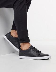 Черные кроссовки из искусственной кожи Lacoste-Черный