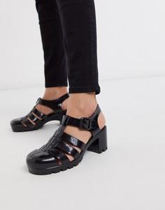 Виниловые туфли на каблуке London Rebel-Черный