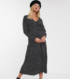 Эксклюзивное платье миди в горошек на пуговицах ASOS DESIGN Maternity-Мульти