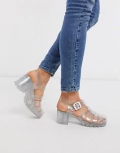 Виниловые туфли на каблуке London Rebel-Очистить