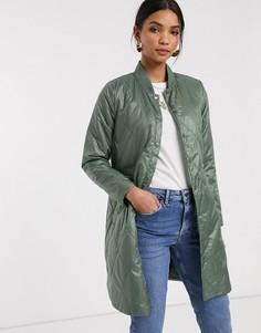 Пальто с присборенной талией b. Young-Зеленый B.Young