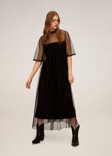 Платье из полупрозрачной ткани в крапинку - Annie-a Mango