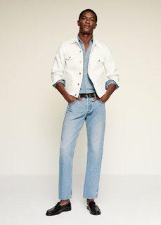 Мягкие джинсы tapered fit светлого тона - Fred Mango