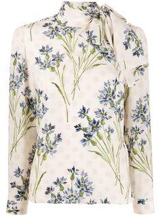 RedValentino блузка с цветочным принтом