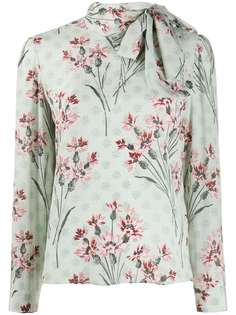 RedValentino блузка с бантом и цветочным принтом