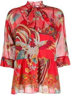RedValentino блузка с принтом