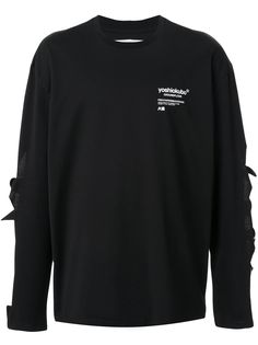 Yoshiokubo футболка с длинными рукавами и вырезами