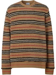 Burberry флисовая толстовка в полоску Icon Stripe