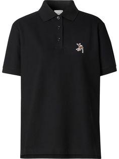 Burberry рубашка-поло с вышивкой