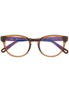 Chloé очки в круглой оправе