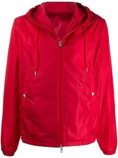 Moncler куртка с капюшоном и нашивкой-логотипом