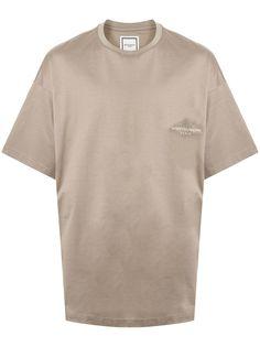 Wooyoungmi футболка оверсайз с графичным принтом