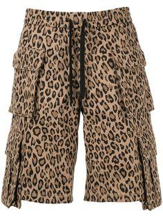 Ports V шорты карго с леопардовым принтом