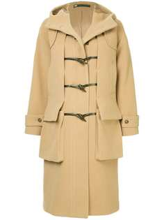 Muller Of Yoshiokubo duffle fitted midi coat