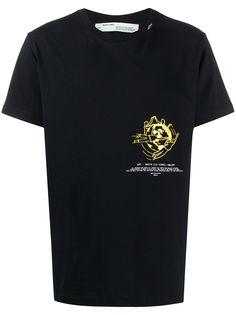 Off-White футболка с принтом